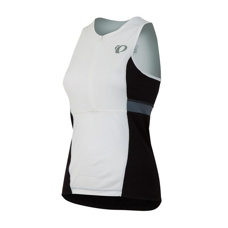 Pearl Izumi Select Relaxed Sleeveless Triathlon Top Women's Size L White Black U.S.A. & Canada