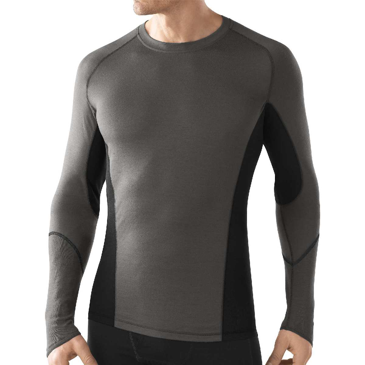 SmartWool NTS Light 195 Crew Long Sleeve Base Layer Men's Size M Graphite U.S.A. & Canada