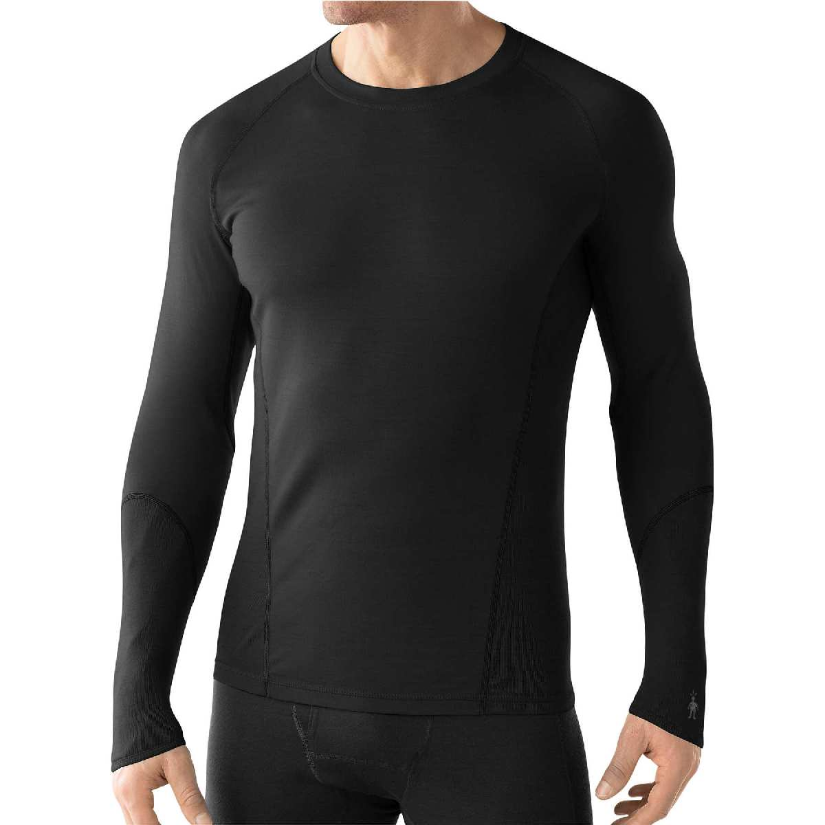 SmartWool NTS Light 195 Crew Long Sleeve Base Layer Men's Size M Black U.S.A. & Canada