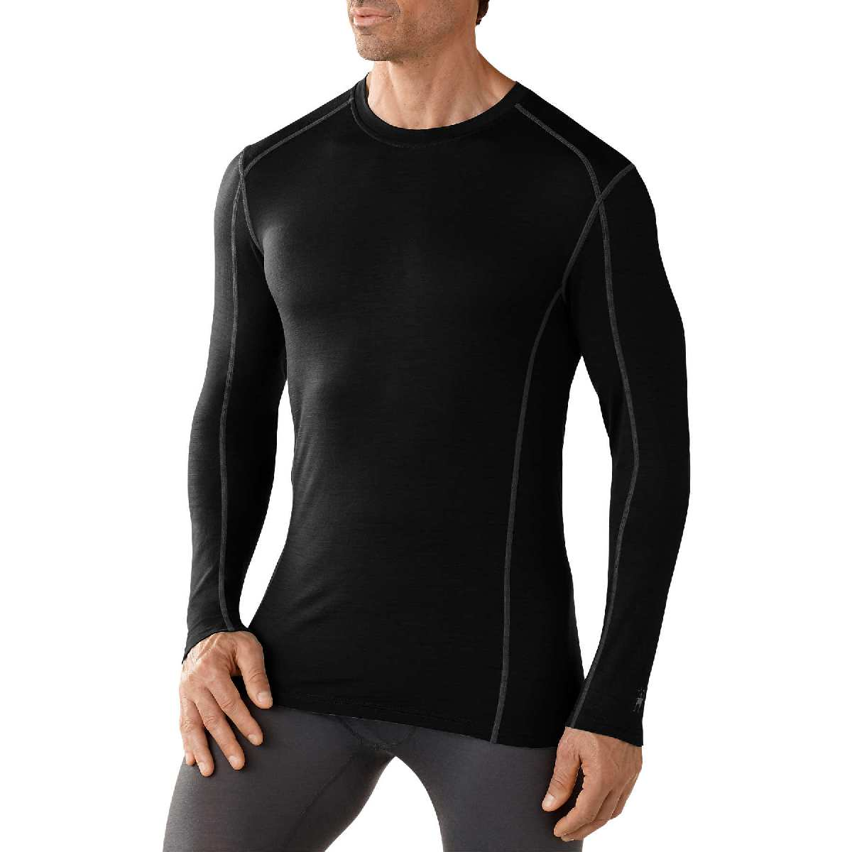SmartWool NTS Micro 150 Crew Long Sleeve Base Layer Men's Size S Black U.S.A. & Canada
