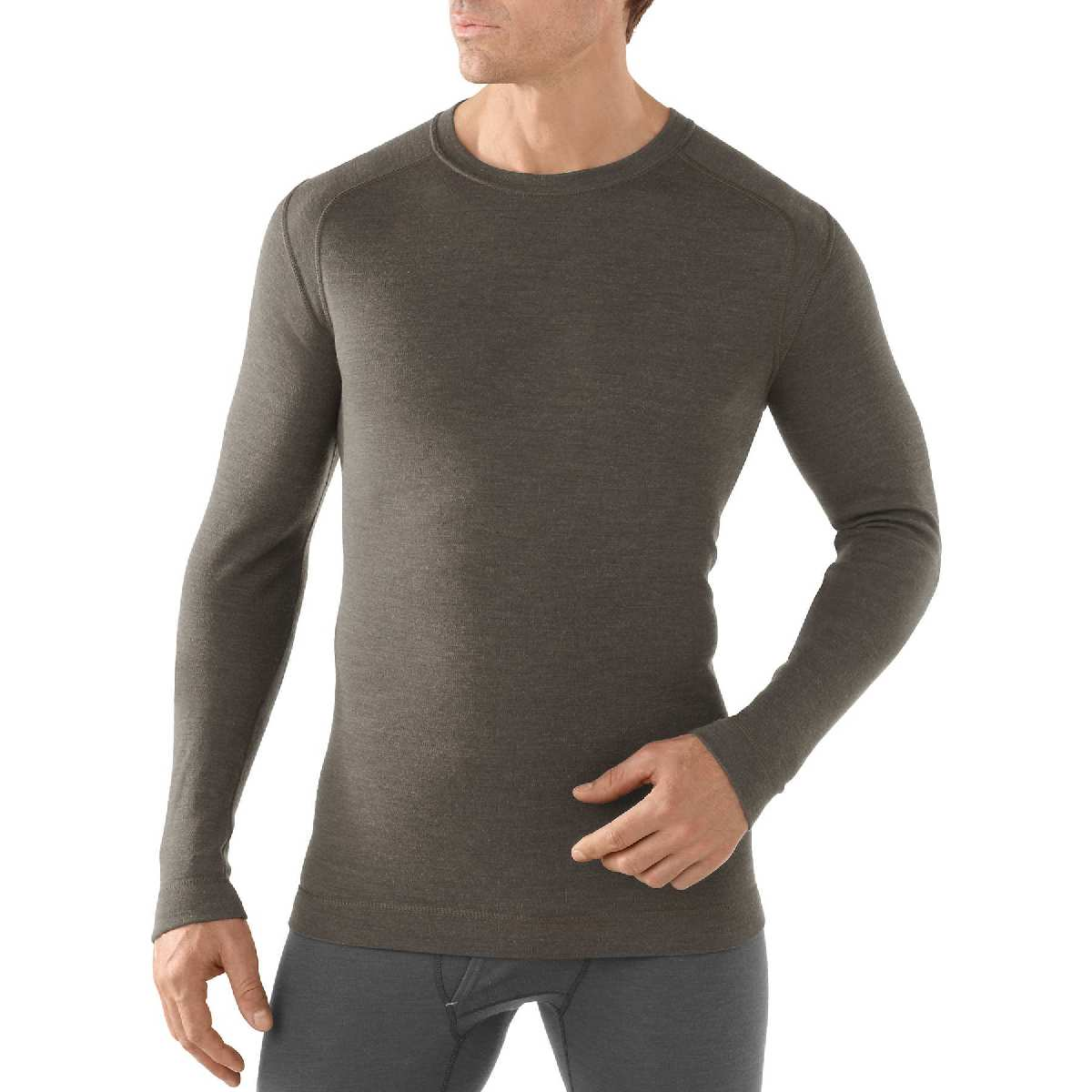 SmartWool NTS Mid 250 Crew Long Sleeve Base Layer Men's Size XXL TaupeHeather U.S.A. & Canada