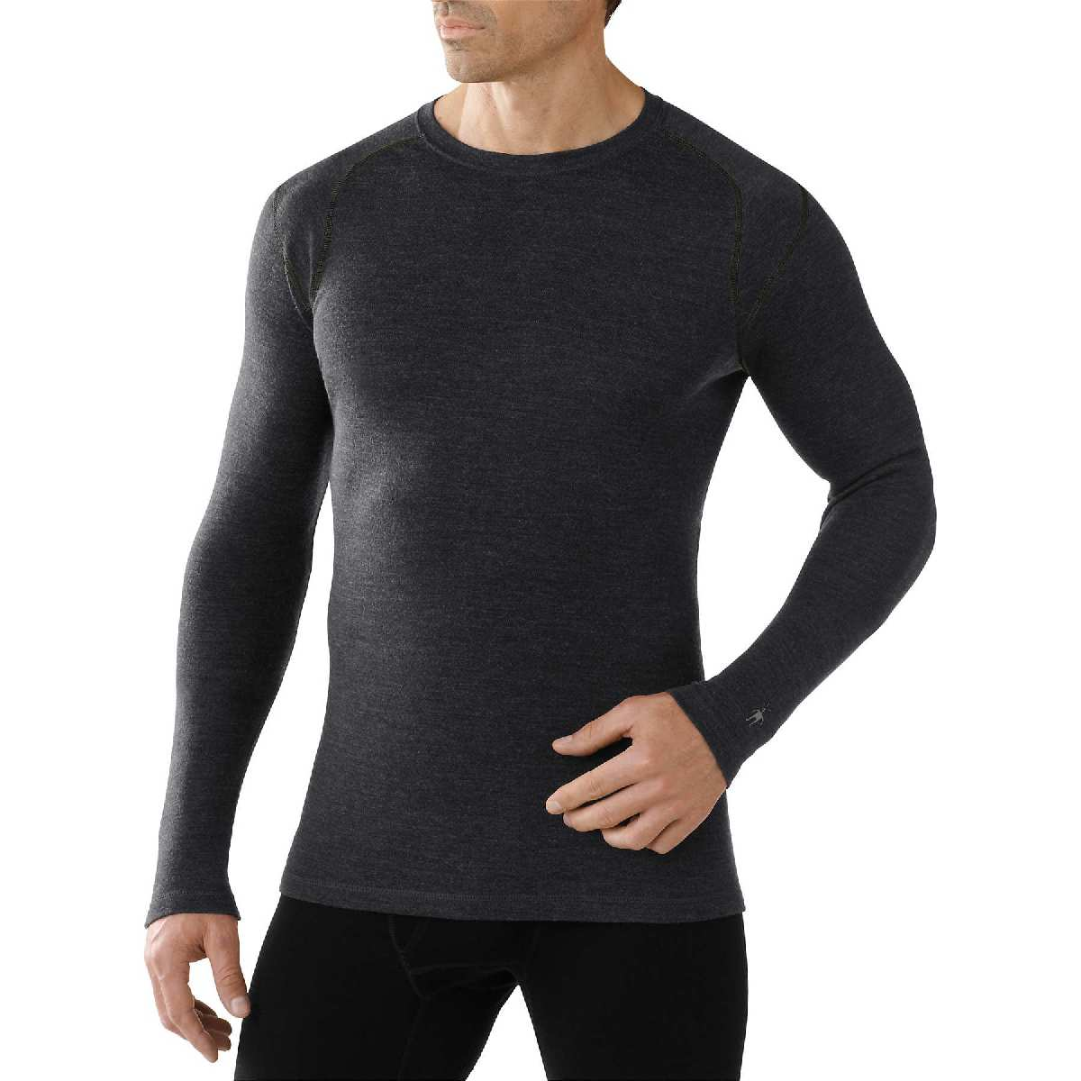 SmartWool NTS Mid 250 Crew Long Sleeve Base Layer Men's Size XL CharcoalHeather U.S.A. & Canada