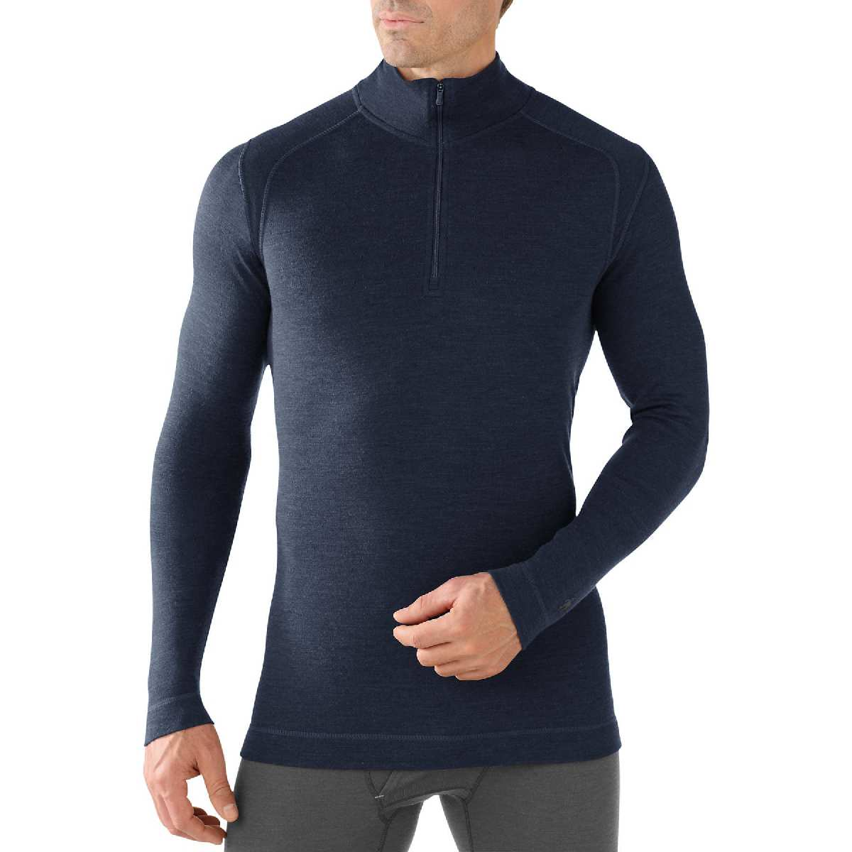 SmartWool NTS Mid 250 Zip T Long Sleeve Base Layer Men's Size S DeepNavy U.S.A. & Canada