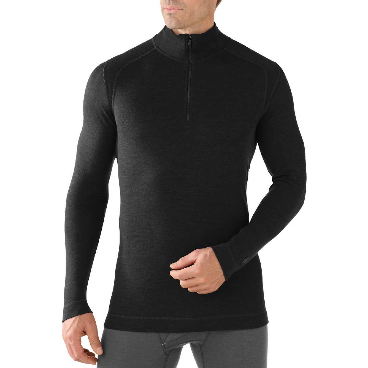 SmartWool NTS Mid 250 Zip T Long Sleeve Base Layer Men's Size S Black U.S.A. & Canada
