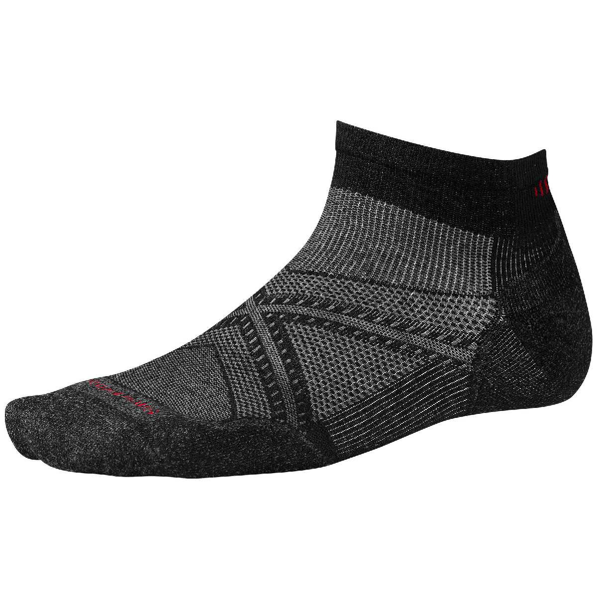 SmartWool PhD Light Elite Low Cut Running Sock Size M Black U.S.A. & Canada