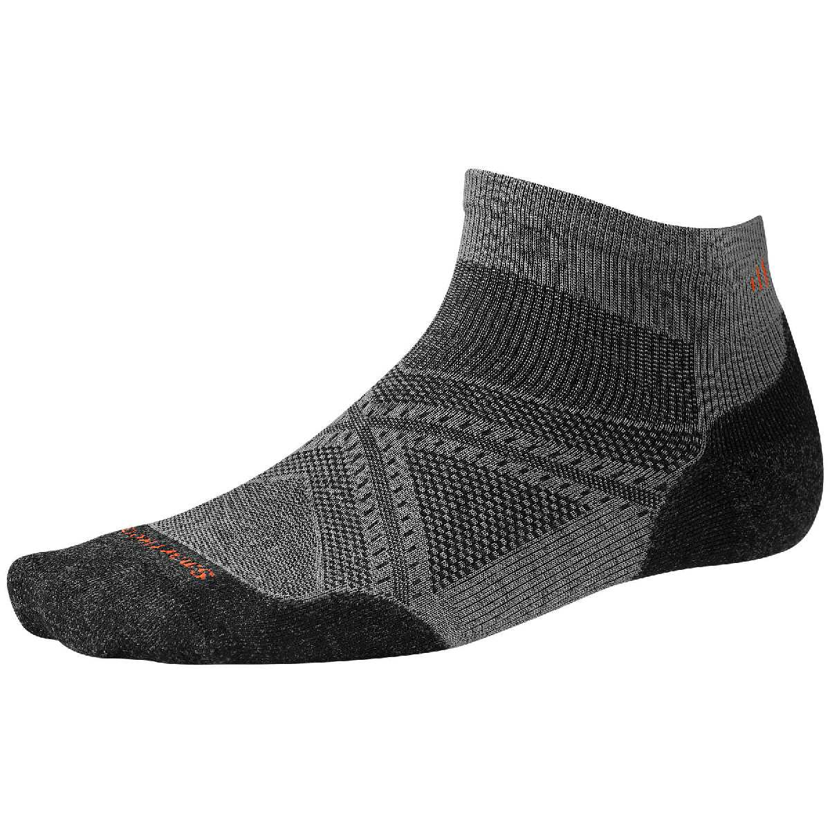 SmartWool PhD Light Elite Low Cut Running Sock Size L Graphite U.S.A. & Canada