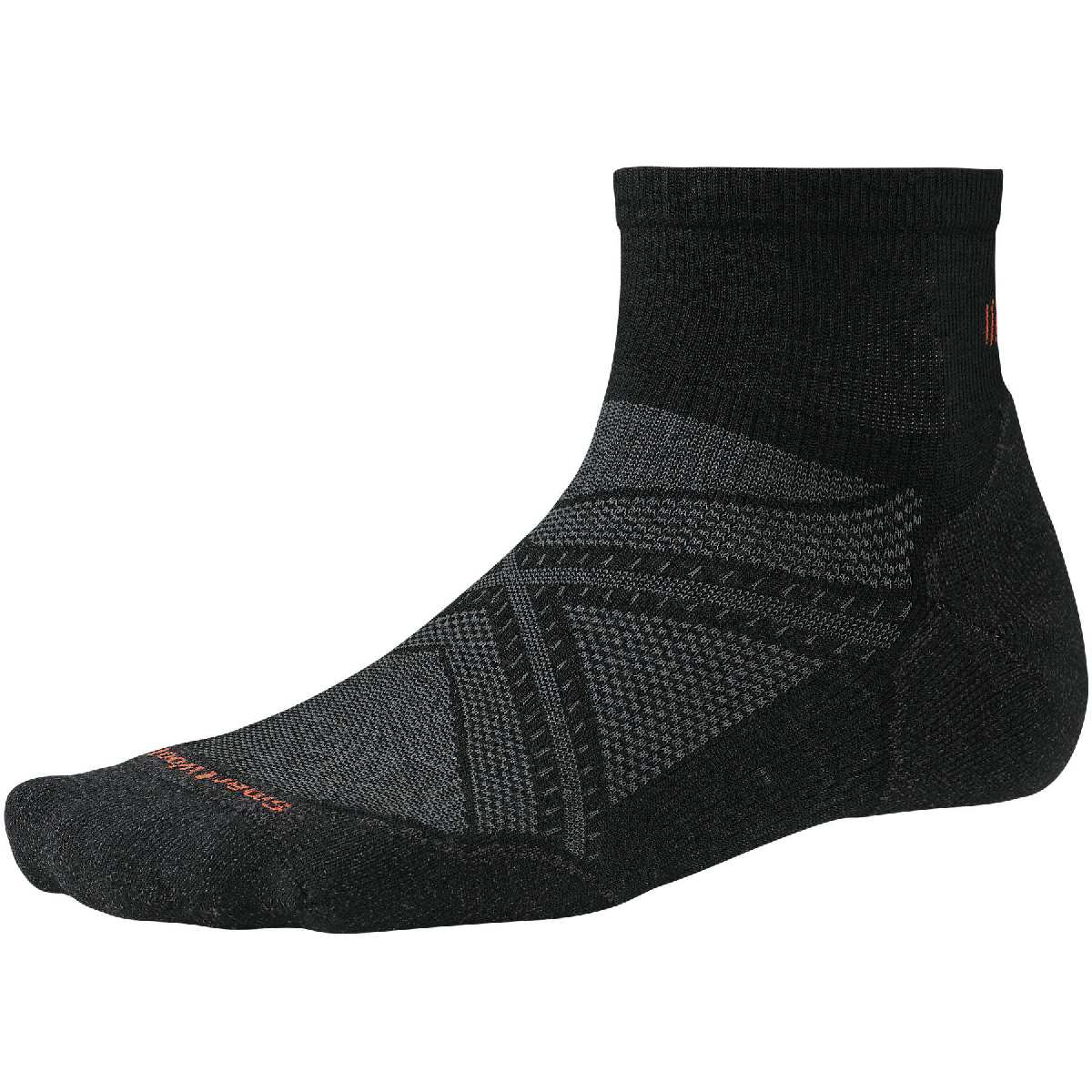 SmartWool PhD Light Elite Mini Running Sock Size XL Black U.S.A. & Canada
