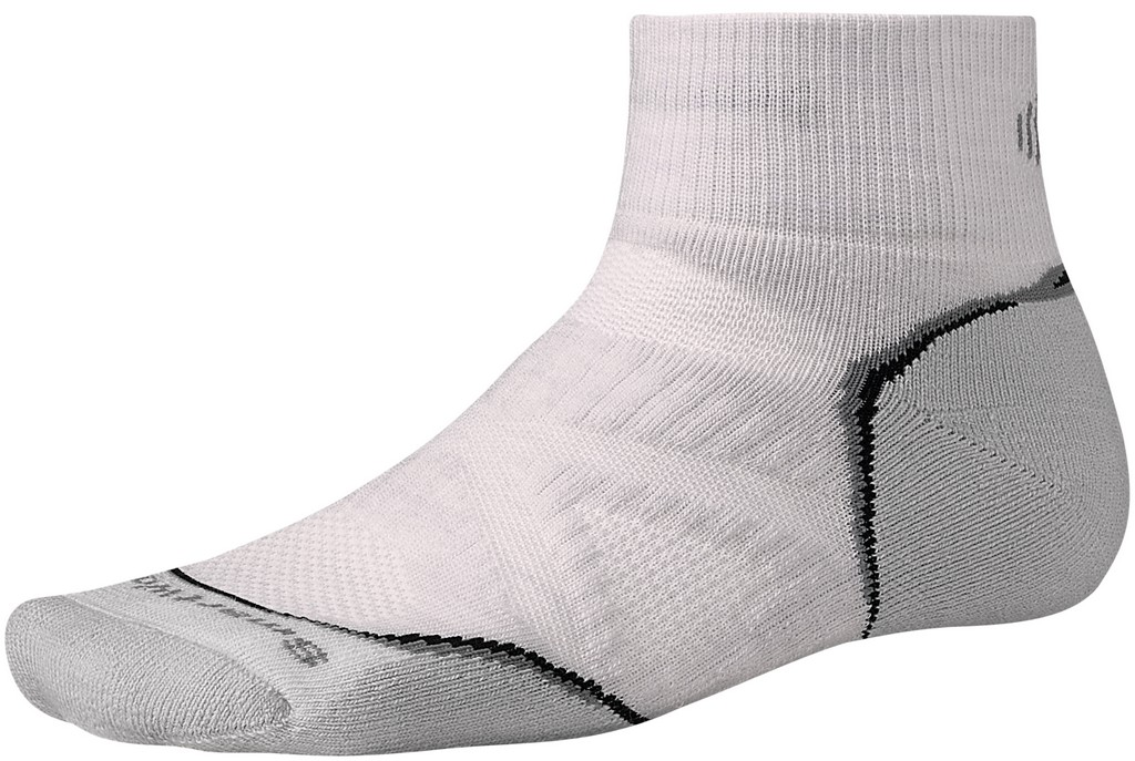 SmartWool PhD Medium Mini Running Sock Size M Silver U.S.A. & Canada