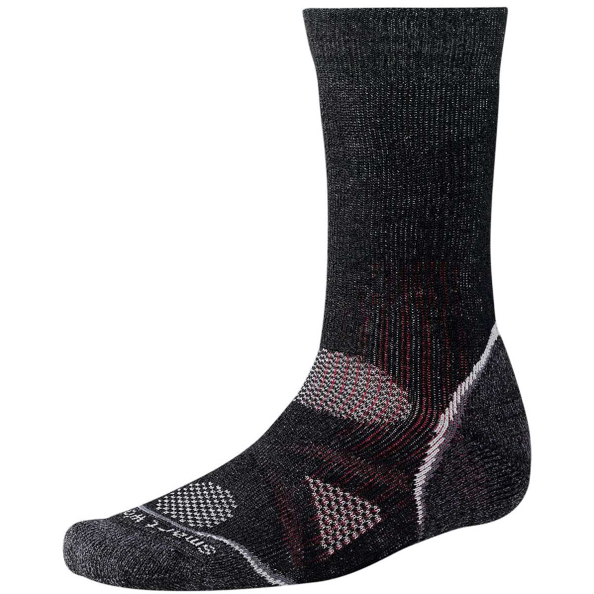 SmartWool PhD Outdoor Heavy Crew Hiking Sock Size XL Black U.S.A. & Canada