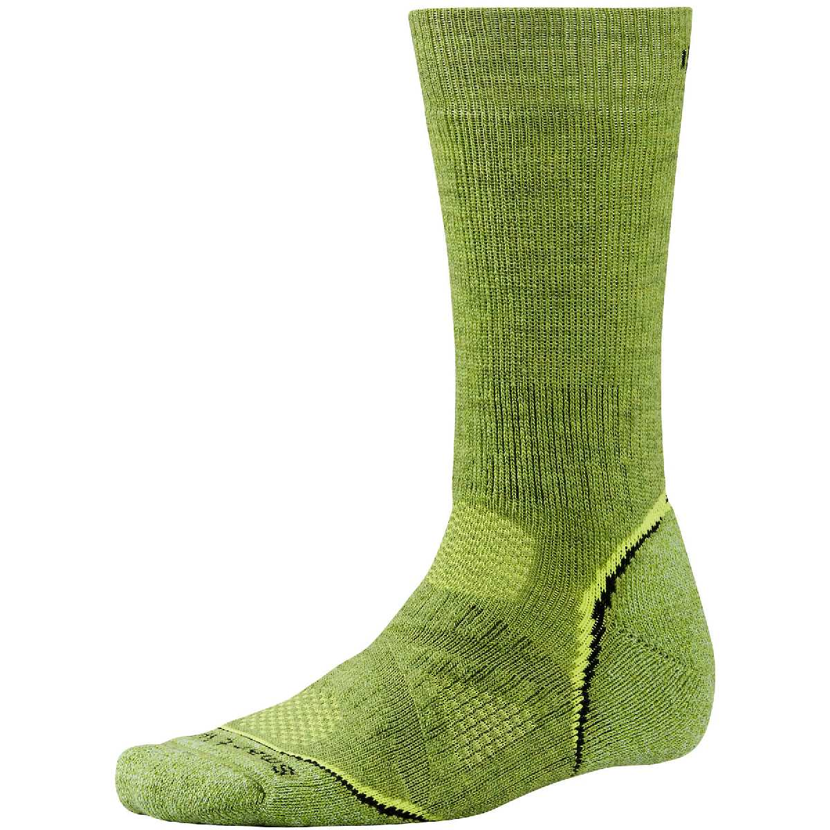SmartWool PhD Outdoor Heavy Crew Hiking Sock Size L Pesto U.S.A. & Canada