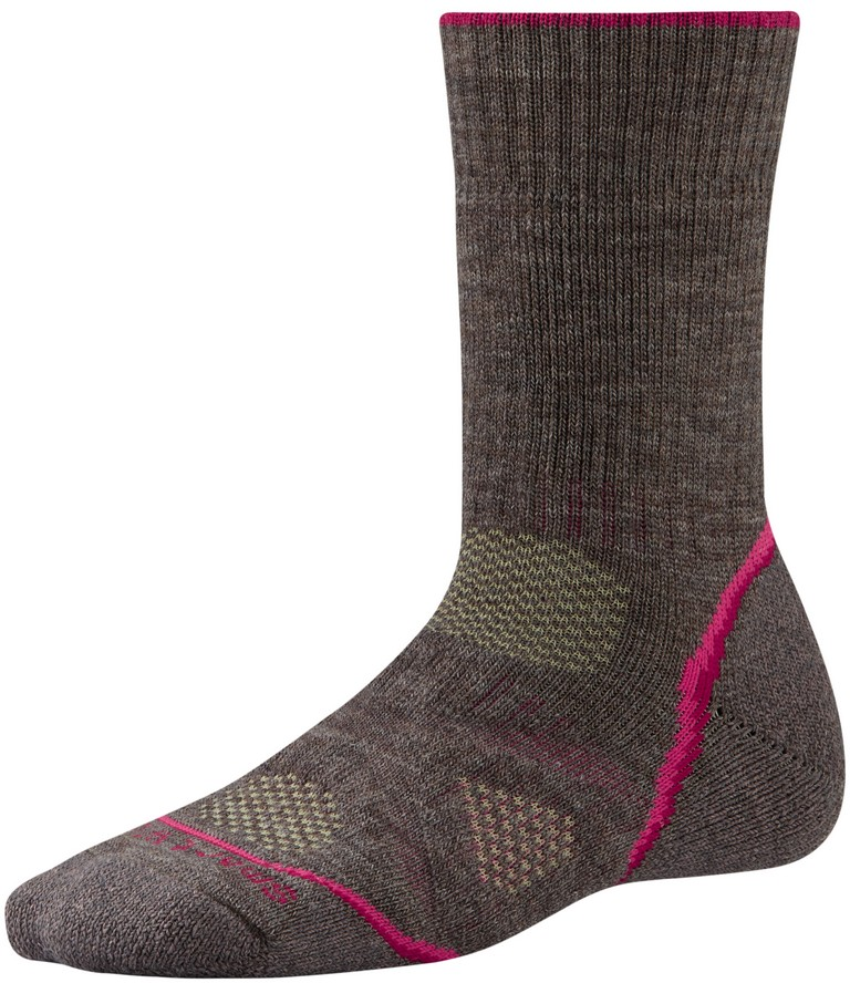 SmartWool PhD Outdoor Heavy Crew Hiking Sock Women's Size S Taupe U.S.A. & Canada