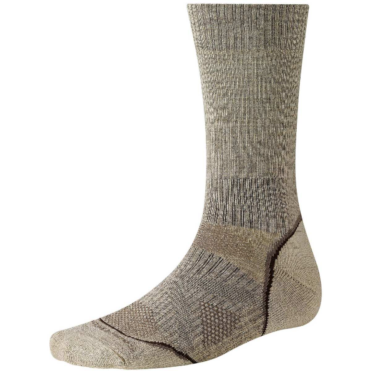 SmartWool PhD Outdoor Light Crew Hiking Sock Size XL Oatmeal U.S.A. & Canada