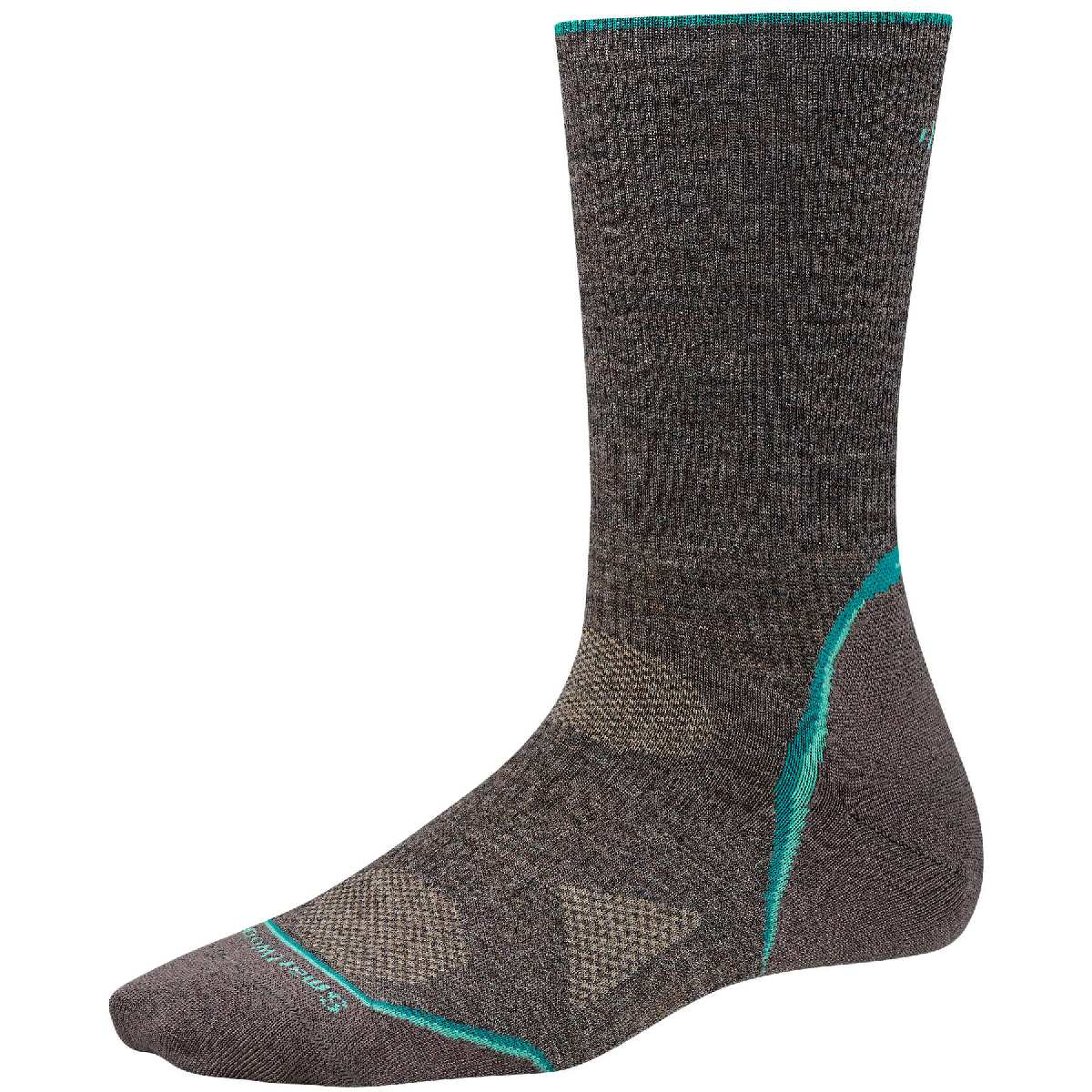 SmartWool PhD Outdoor Ultra Light Crew Hiking Sock Women's Size S Taupe U.S.A. & Canada