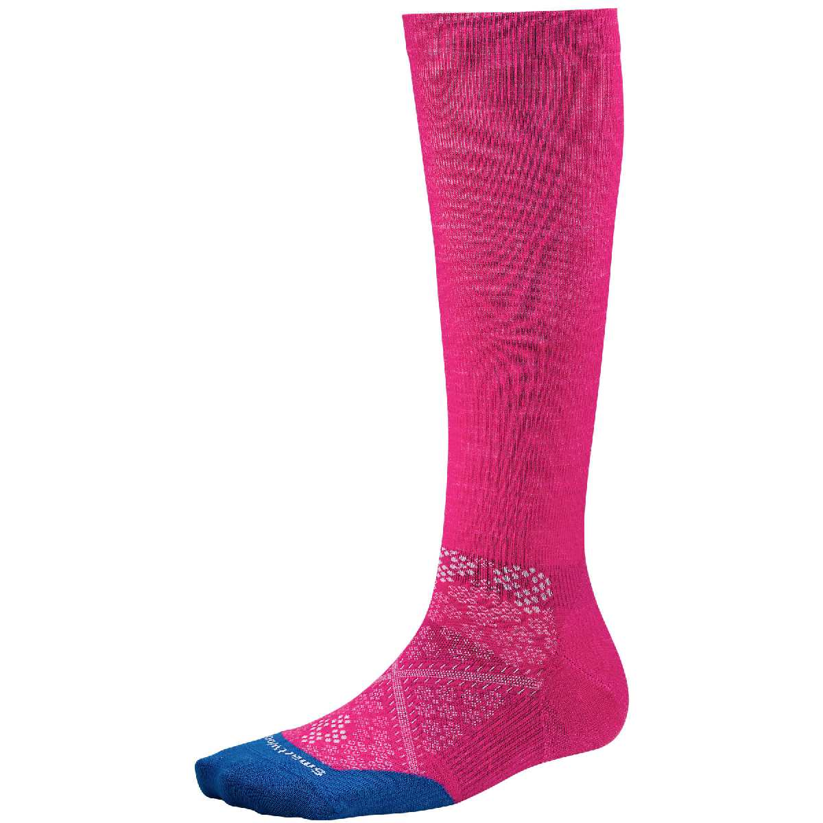 SmartWool PhD Run Ultra Light Graduated Compression Sock Women's Size M BrightPink U.S.A. & Canada