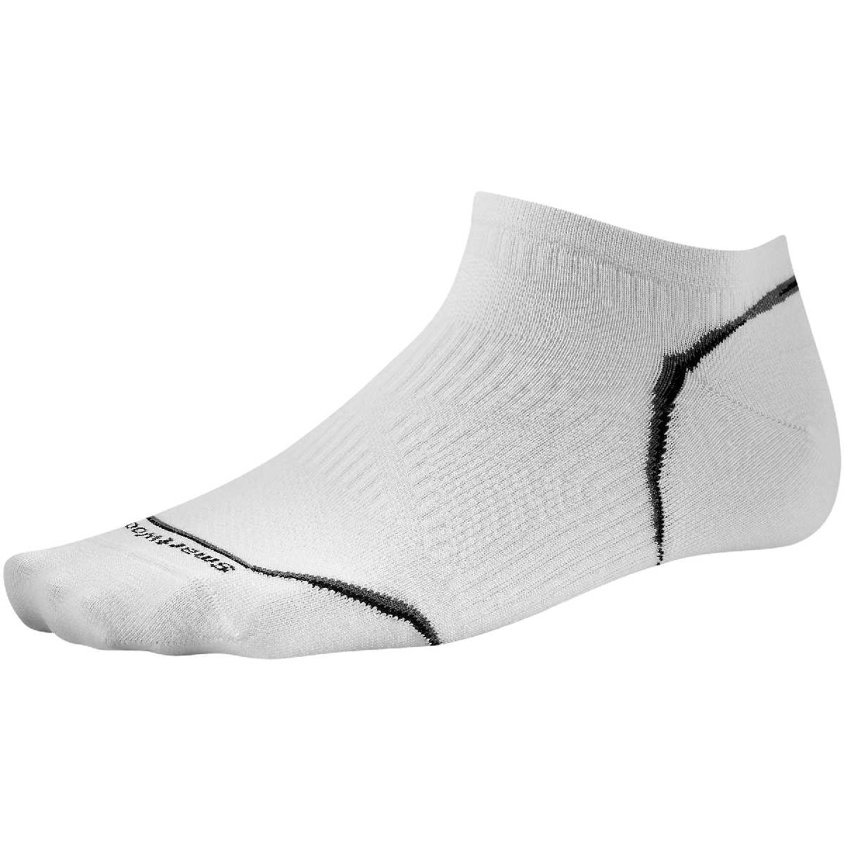 SmartWool PhD Ultra Light Micro Cycling Sock Size M White U.S.A. & Canada