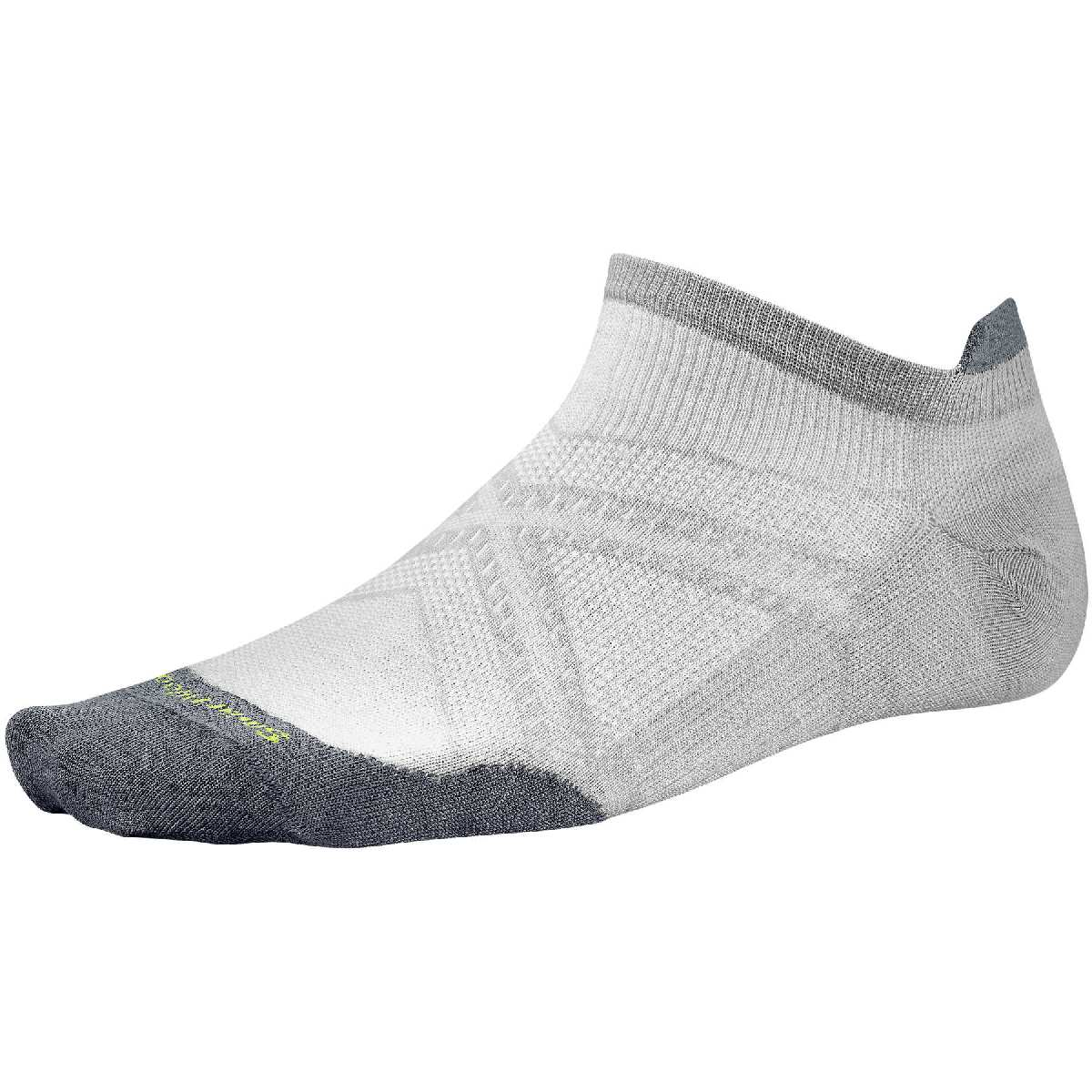 SmartWool PhD Ultra Light Micro Running Sock Size M Silver U.S.A. & Canada