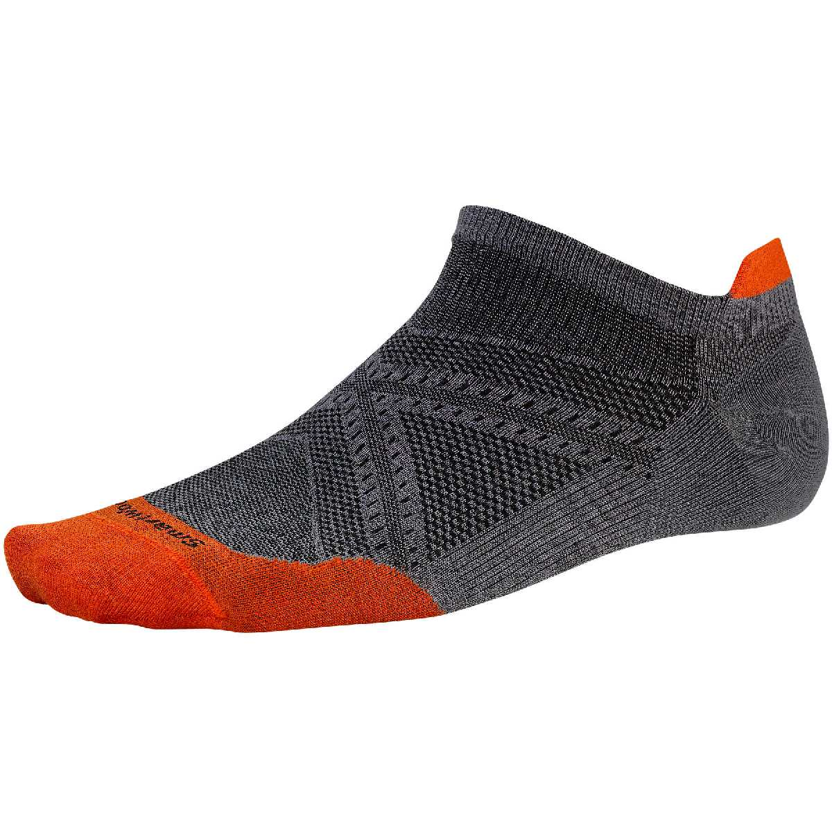 SmartWool PhD Ultra Light Micro Running Sock Size XL Graphite BrightOrange U.S.A. & Canada
