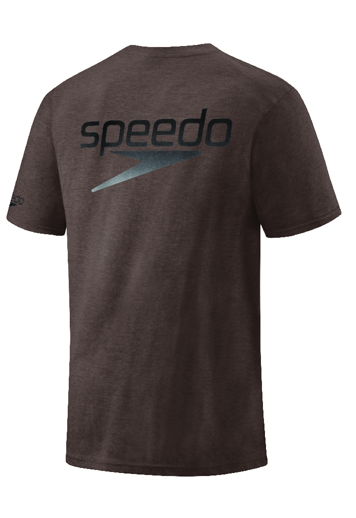 Speedo Back Stacked Logo Casual Shirt Men's Size L Brown U.S.A. & Canada