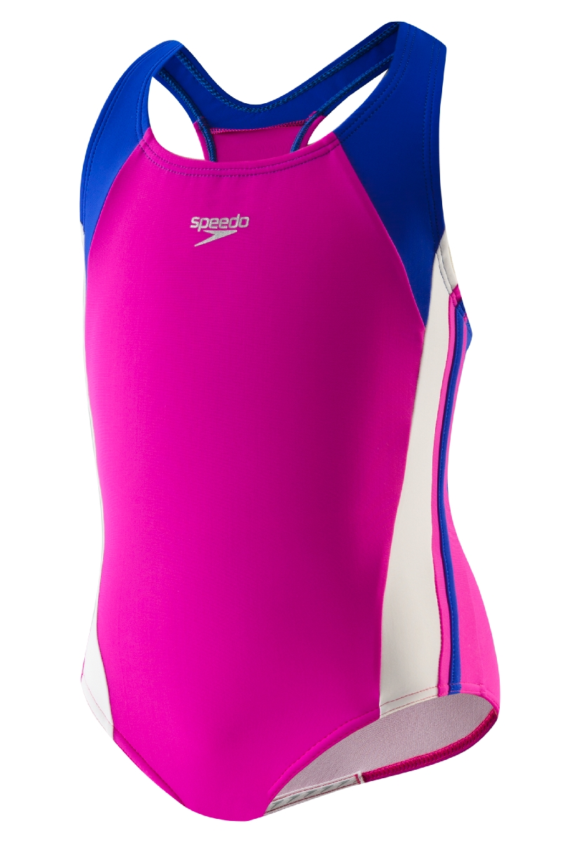 Speedo Infinity Splice Swimsuit Girl's Size 4 Deep U.S.A. & Canada