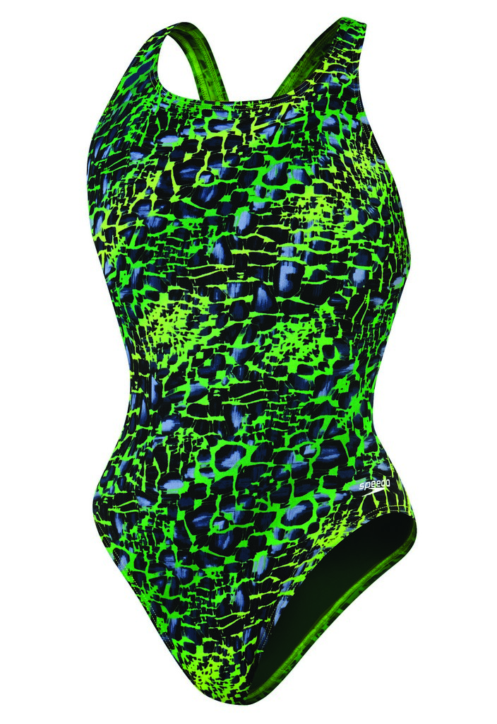 Speedo Shatter Skin Super Pro Back Swimsuit Women's Size 34 KellyGreen U.S.A. & Canada