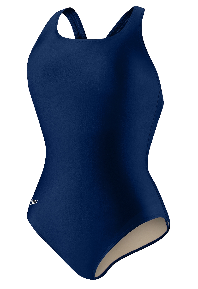 Speedo Solid Moderate Ultra Back Plus Swimsuit Women's Size 24 NauticalNavy U.S.A. & Canada