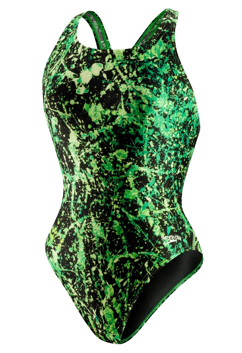 Speedo Splatter Splash Super Pro Swimsuit Women's Size 28 KellyGreen U.S.A. & Canada