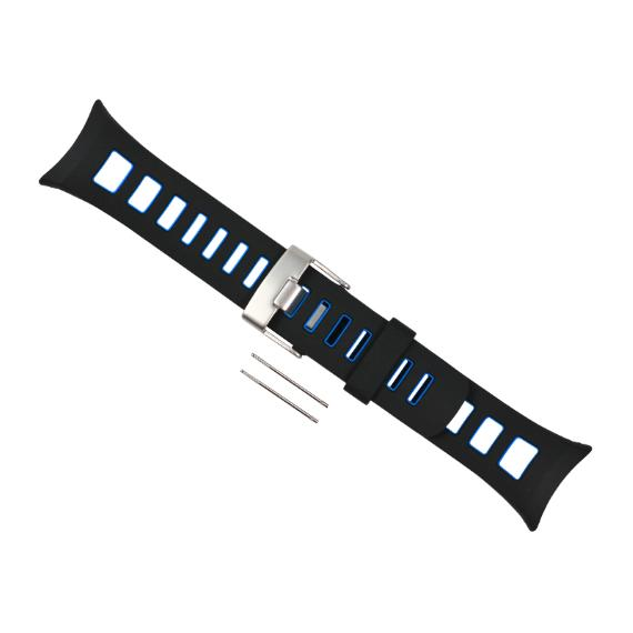 Suunto Quest Elastomer Replacement Watch Strap Blue U.S.A. & Canada
