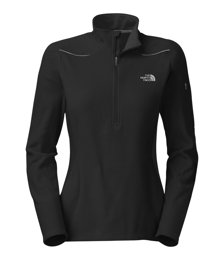 The North Face TKA 80 1 4 Zip Long Sleeve Running Top Women's Size L TNFBlack U.S.A. & Canada