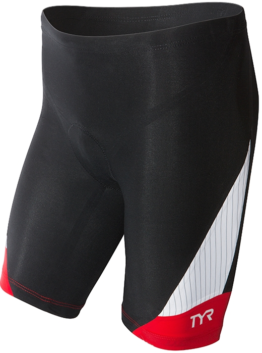 TYR Carbon 9 Triathlon Short Men's Size S Black Red U.S.A. & Canada