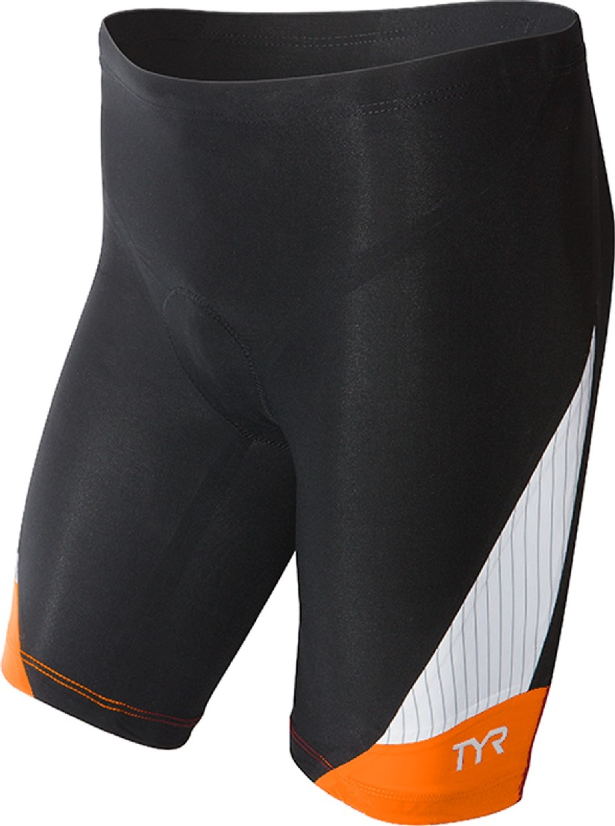 TYR Carbon 9 Triathlon Short Men's Size XS Black Orange U.S.A. & Canada