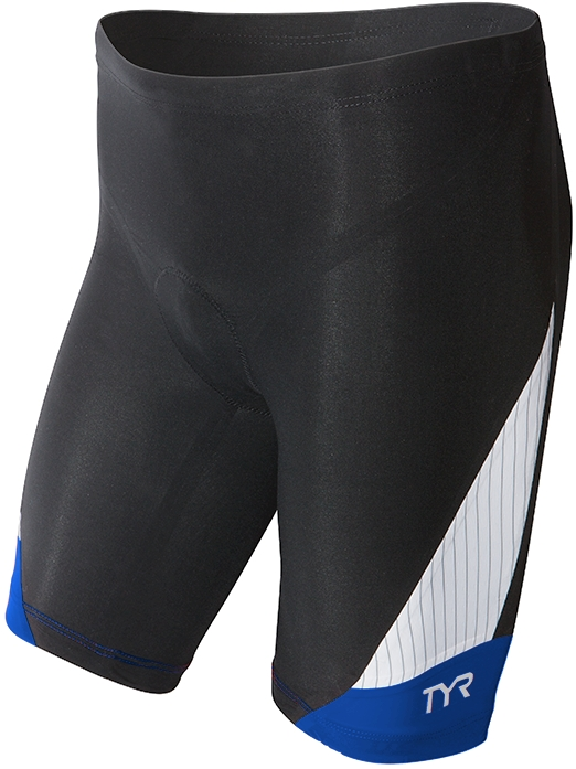 TYR Carbon 9 Triathlon Short Men's Size L Black Blue U.S.A. & Canada