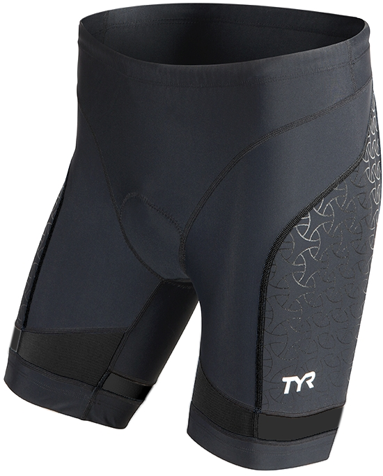 TYR Competitor 7 Triathlon Short Men's Size XL Black U.S.A. & Canada