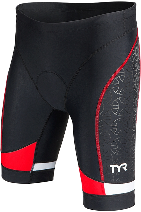 TYR Competitor 8 Triathlon Short Women's Size M Black Red U.S.A. & Canada