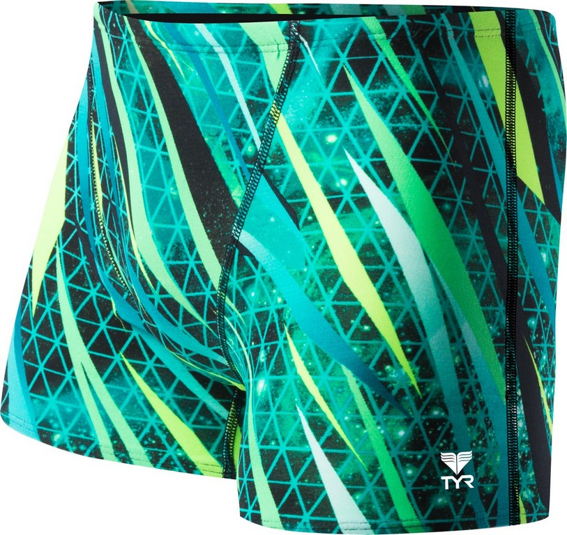 TYR Contact All Over Square Leg Swimsuit Men's Size 40 Green U.S.A. & Canada