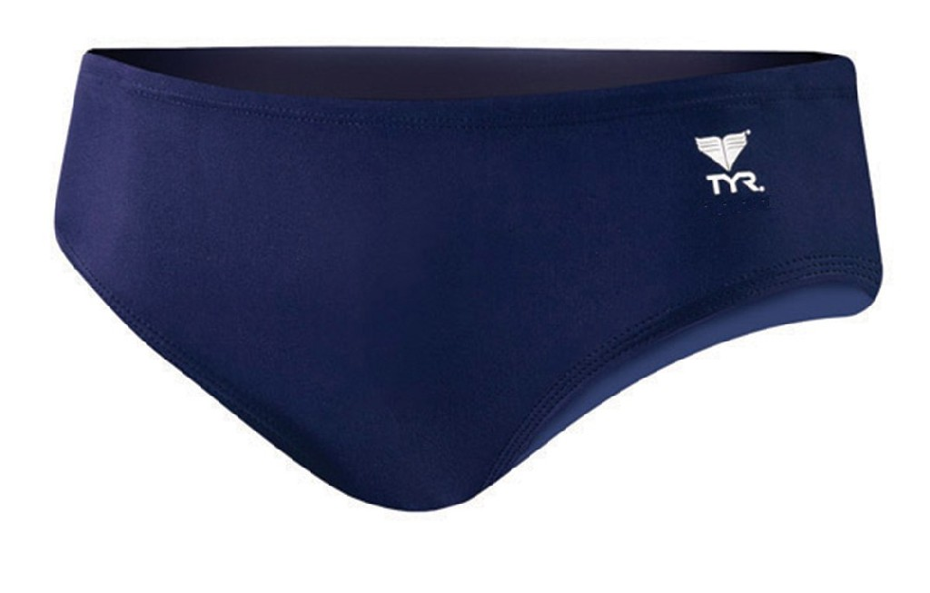 TYR Destroyer 4 Nylon Trainer Water Polo Suit Men's Size 34 Navy U.S.A. & Canada