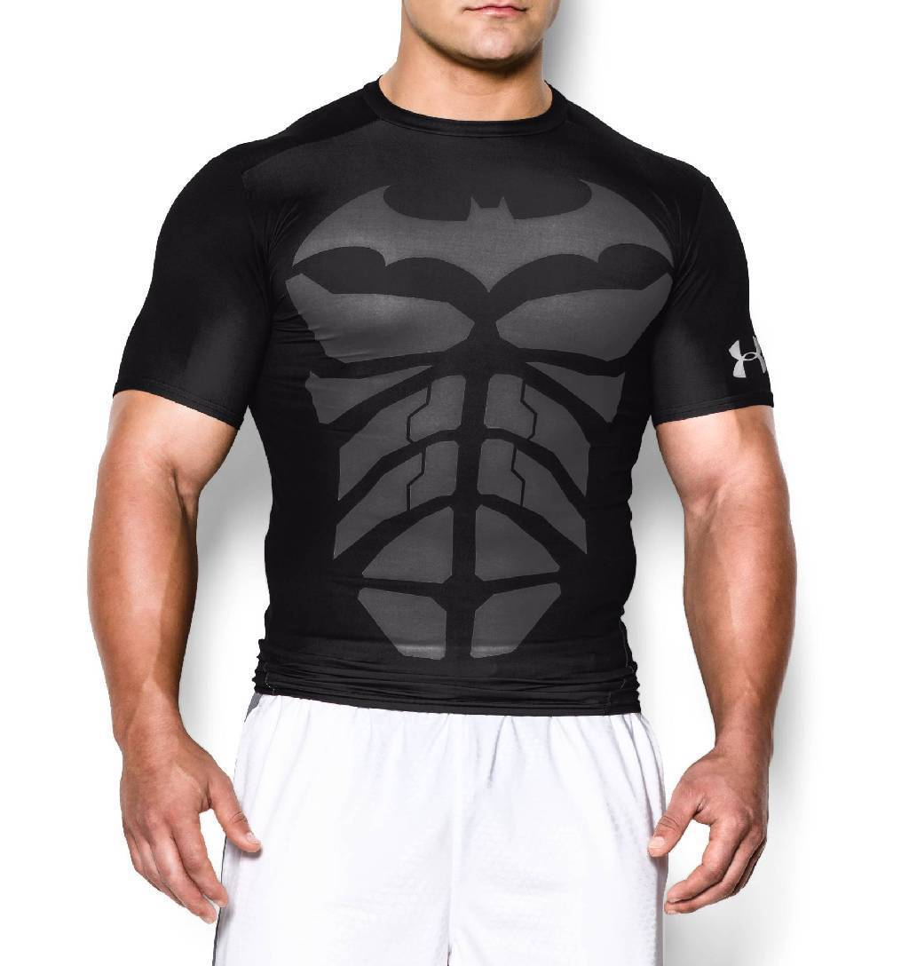 Under Armour Alter Ego Short Sleeve Compression Top Men's Size S Black Steel U.S.A. & Canada