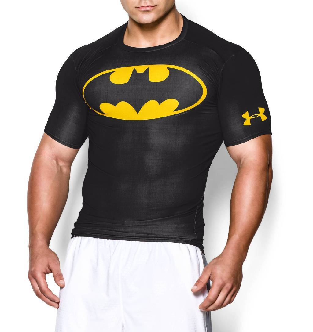 Under Armour Alter Ego Short Sleeve Compression Top Men's Size XXL Black Taxi U.S.A. & Canada