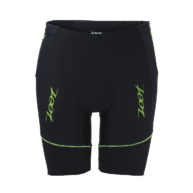 Zoot Sports Performance 8 Triathlon Short Men's Size S Black GreenFlash U.S.A. & Canada
