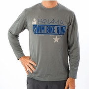 Ironman 70.3 Panama 2013 Swim, Bike, Run Long Sleeve Workout Shirt - Men's