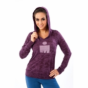Ironman 70.3 Panama M-Dot V-Neck Burnout Hooded Sweatshirt - Women's