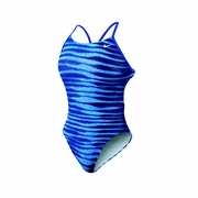Nike Foil Skin Cut-Out Tank Swimsuit - Women's