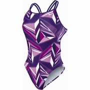 Nike Jagged Geo Spider Back Tank Swimsuit - Women's