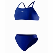 Nike Nylon Core Solid Sport Top 2 Piece Swimsuit - Women's