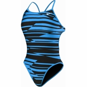 Nike Shadow Stripe Reversible Cut Out Tank Swimsuit - Women's