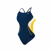 Nike Team Color Block Cut Out Tank Swimsuit - Women's