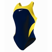 Nike Team Color Block Power Back Tank Swimsuit - Girl's