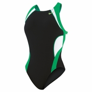 Nike Team Splice Modern Fast Back Tank Swimsuit - Women's
