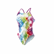 Nike Tie Dye Cut Out Tank Swimsuit - Women's