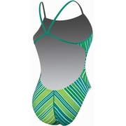 Nike Zig Zag Cut Out Tank Swimsuit - Women's