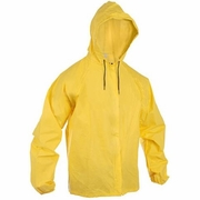 O2 Rainwear Hooded Rain Jacket with Drop Tail